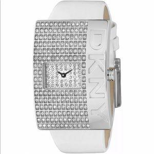 Vintage DKNY Crystal Face Women Wrist watch